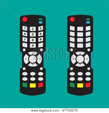 Modern Remote Control With Arrow Button And Number And No Number On Button In Flat Style