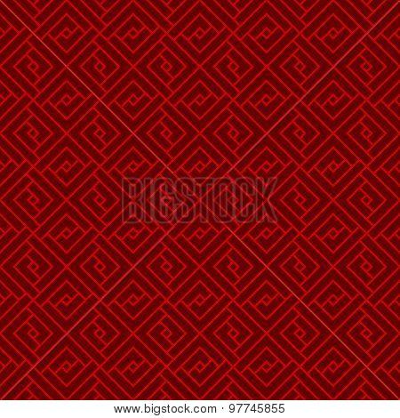 Seamless Chinese window tracery lattice geometry square pattern background.