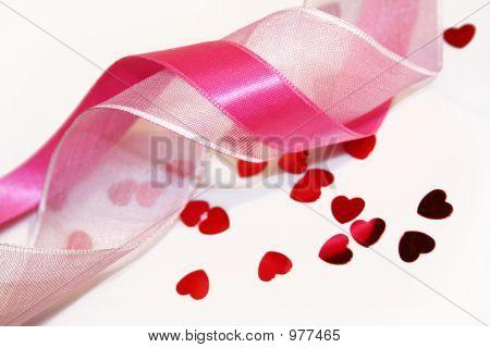 Hearts And Pink Ribbon