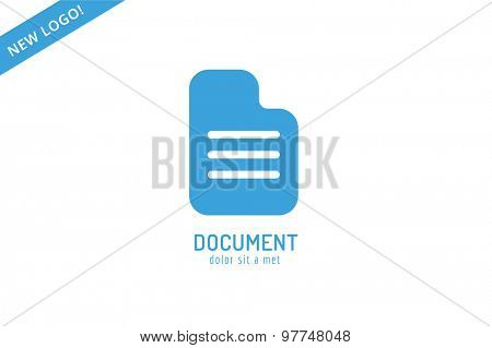 Abstract document template logo icon. Back to school. Education, university, college symbol or knowledge, book, publish, page paper. Design element. Isolated on white