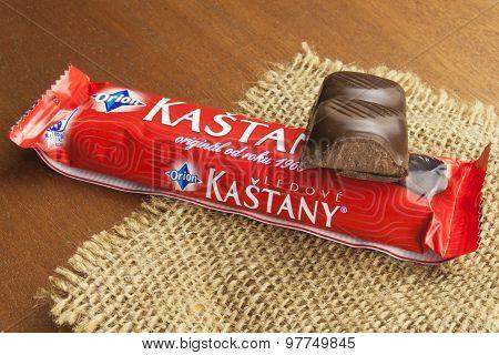 Traditional Czech chocolate bar