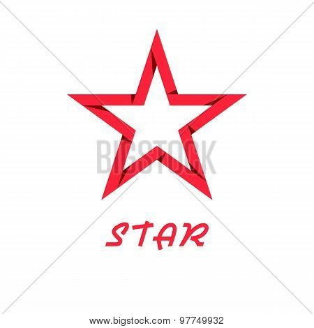 Star Red Of Paper, Design Logo, Web Icon