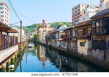 Old Town district in Nagasaki City. Japan