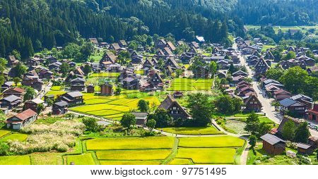 Village located in Gifu Prefecture Japan. Shirakawa-Go