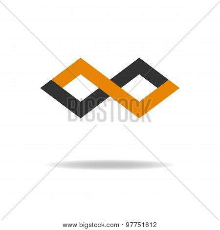 Z-letter Logo, Abstract Infinity Sign, Geometric Background