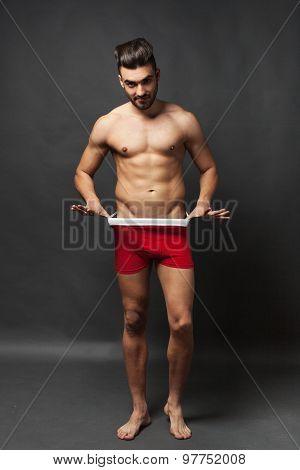 Handsome Man In Underwear
