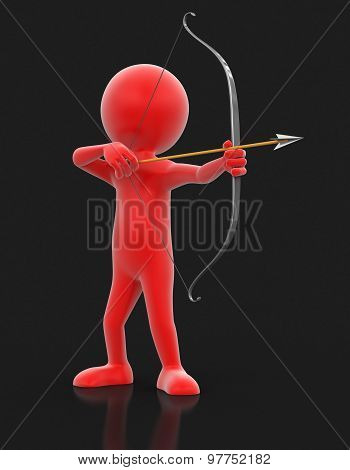 3d archery (clipping path included)