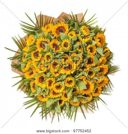 Bouquet of  flowers isolated on white background.