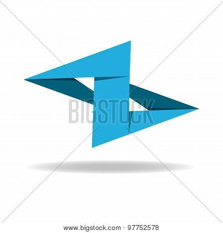 Z Letter logo, Business Abstract blue sign