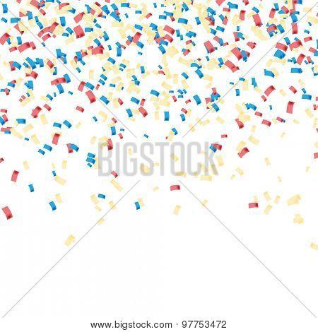 Confetti colorful. Celebratory Background. Illustration