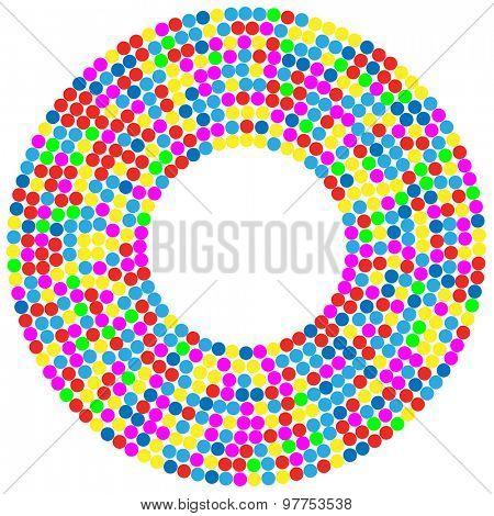 Confetti Background circle. Illustration
