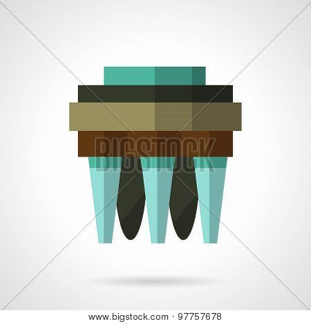 Water filter flat vector icon