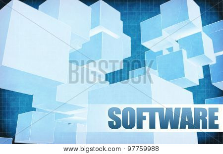 Software on Futuristic Abstract for Presentation Slide
