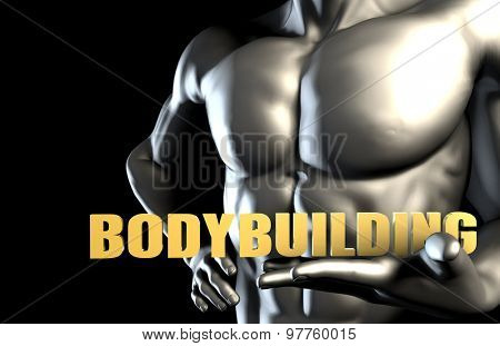 Bodybuilding With a Business Man Holding Up as Concept
