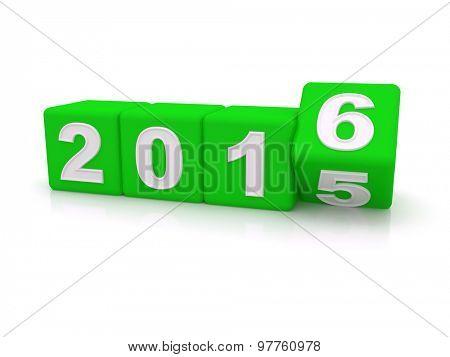 Happy New Year 2016. 3d