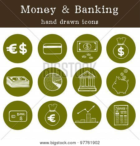 Money And Banking Icons