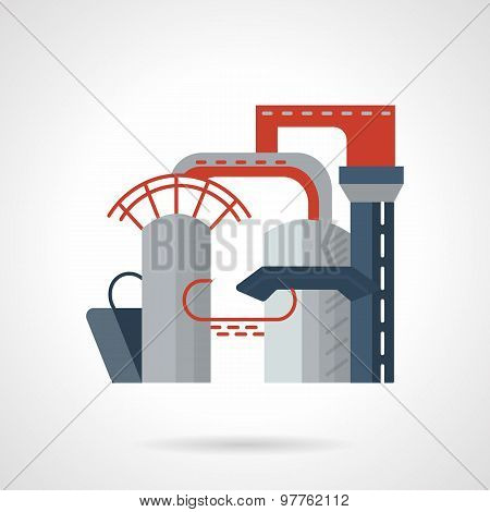 Gas plant flat vector icon
