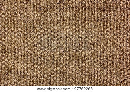 Dark Brown Natural Linen Texture For The Background