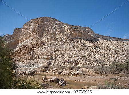 Landscape of the Negev desert mountains