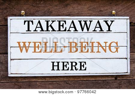 Inspirational Message - Takeaway Well-being Here