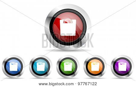 weight original modern design colorful icons set for web and mobile app on white background