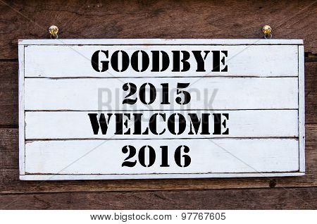 Inspirational Message - Goodbye 2015 Welcome 2016