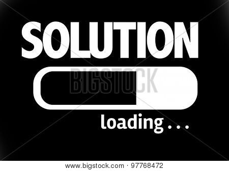 Progress Bar Loading with the text: Solution
