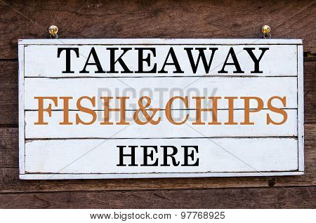 Inspirational Message - Takeaway Fish&chips Here