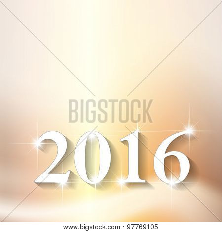 New year 2016 font design easy editable