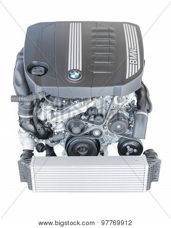 Modern Powerful Flagship Model Of Bmw Twinpower Turbo Diesel Engine