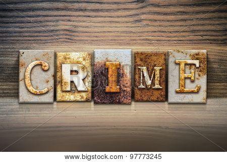 Crime Concept Letterpress Theme