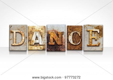 Dance Letterpress Concept Isolated On White
