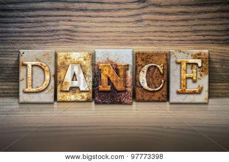 Dance Concept Letterpress Theme