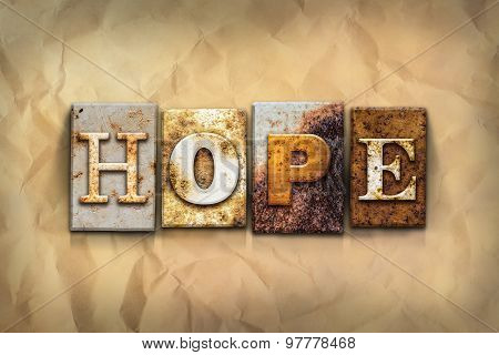 Hope Concept Rusted Metal Type