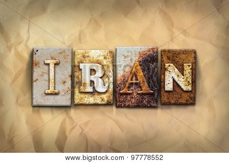 Iran Concept Rusted Metal Type