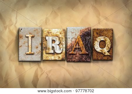 Iraq Concept Rusted Metal Type