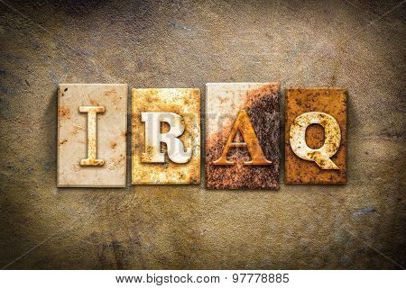 Iraq Concept Letterpress Leather Theme