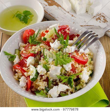 Gluten Free Vegetable Salad  With  Feta .