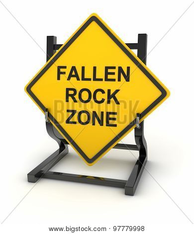 Road Sign - Fallen Rock Zone