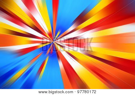 Colorful radius motion line art abstract background