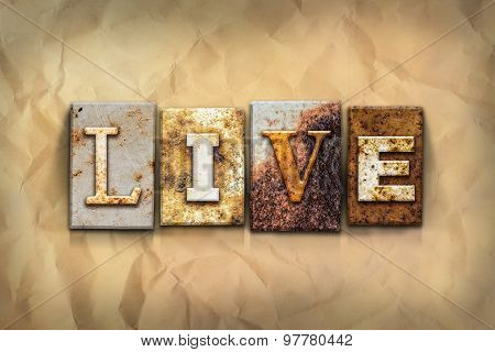 Live Concept Rusted Metal Type