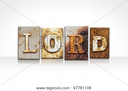 Lord Letterpress Concept Isolated On White