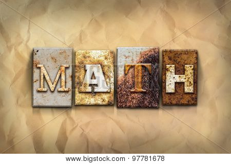 Math Concept Rusted Metal Type