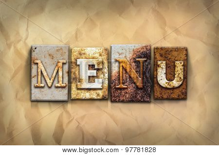 Menu Concept Rusted Metal Type