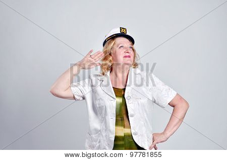 Woman dressed as sailor