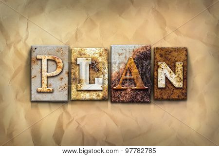 Plan Concept Rusted Metal Type