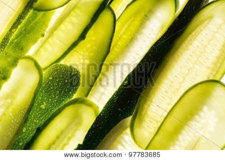 fresh vegetables slices