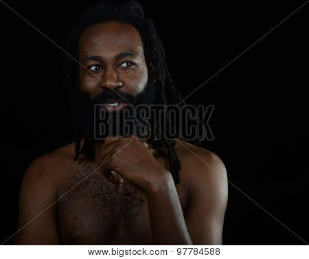 Beautiful Image of a handsome Afro American Man