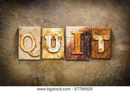 Quit Concept Letterpress Leather Theme