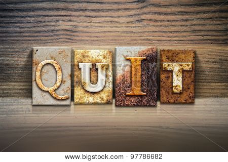 Quit Concept Letterpress Theme